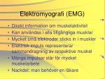 elektromyografi emg