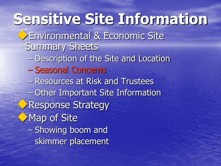 Sensitive Site Information
