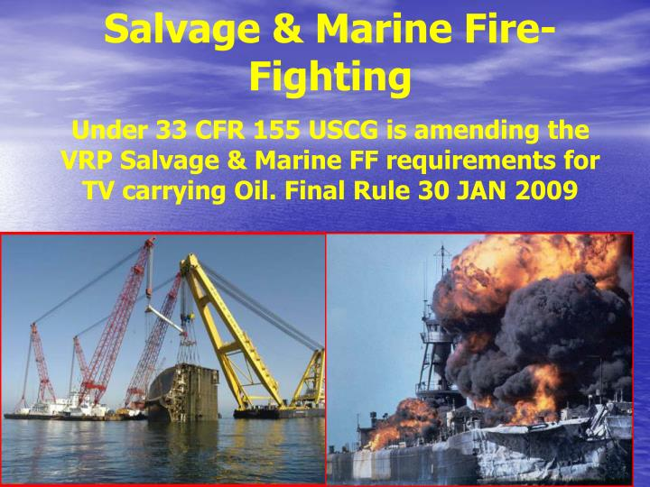 Salvage & Marine Fire-Fighting