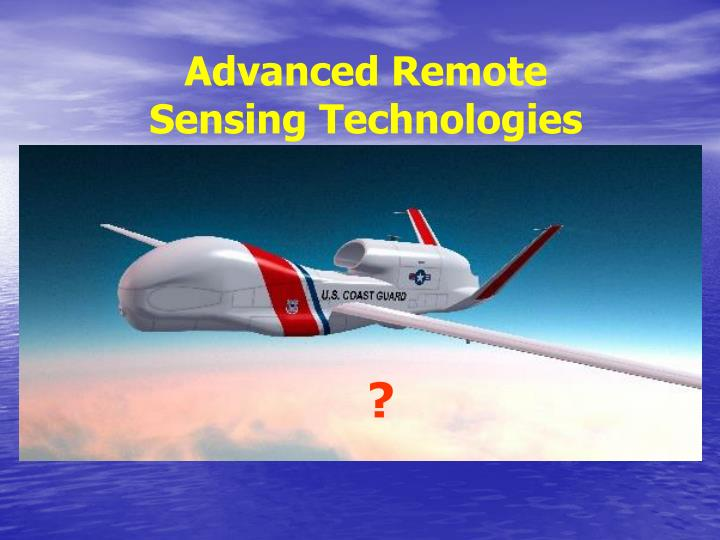 Advanced Remote Sensing Technologies