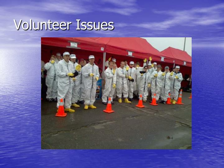 Volunteer Issues