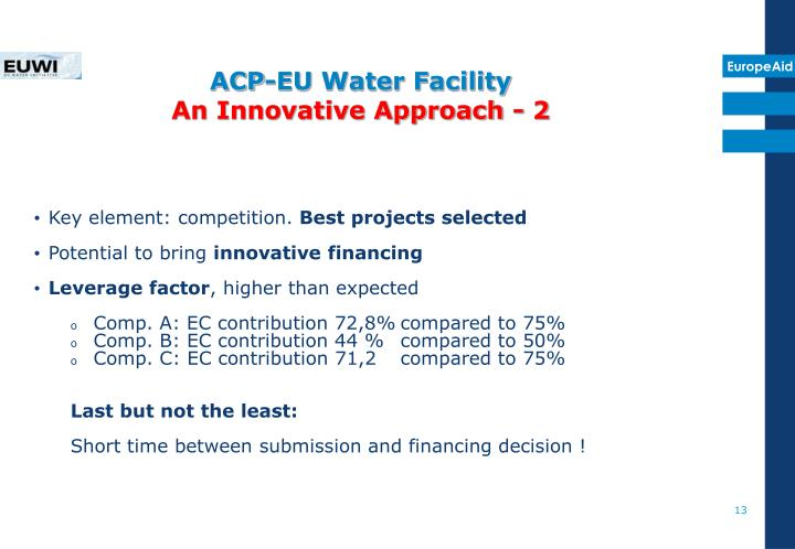ACP-EU Water Facility