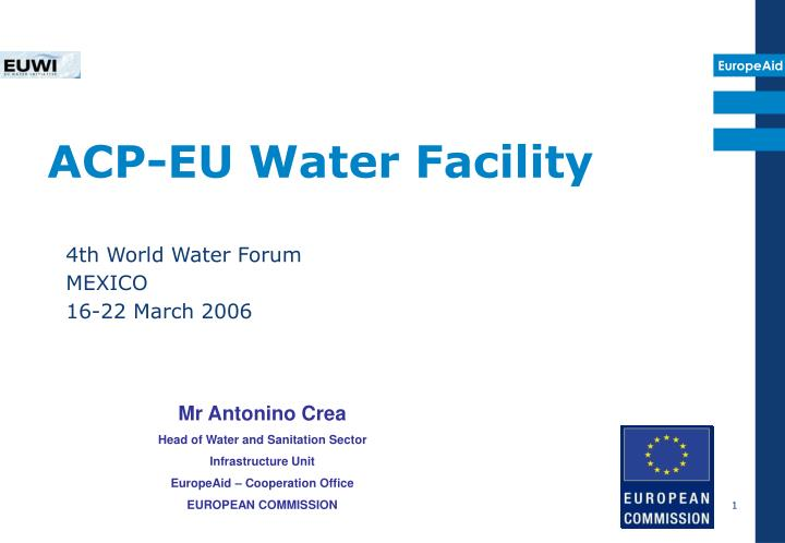 Acp eu water facility