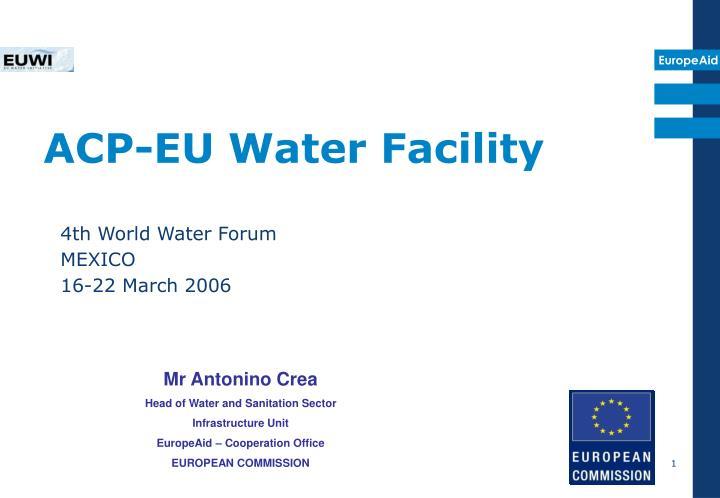 ACP-EU Water Facility