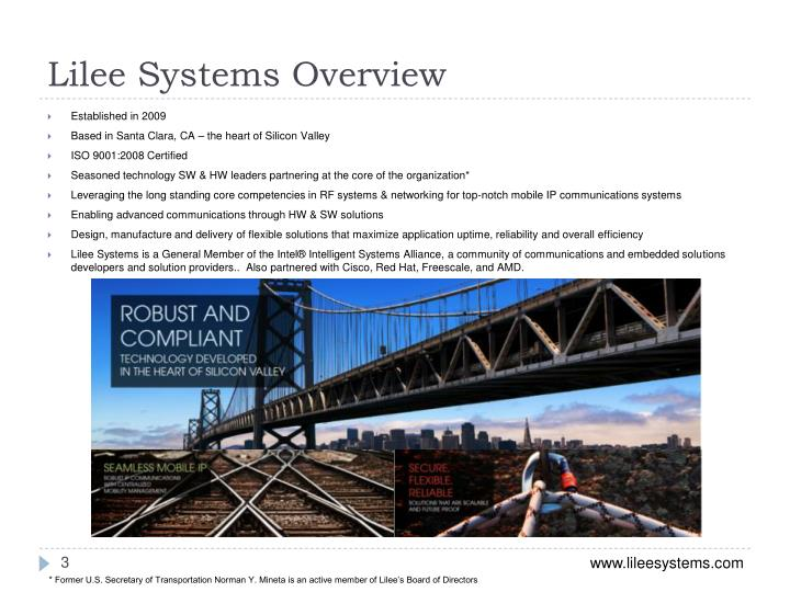 Lilee systems overview