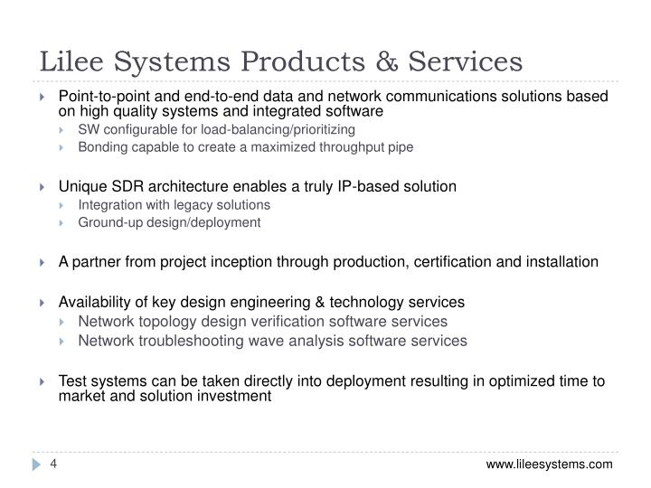 Lilee Systems Products & Services