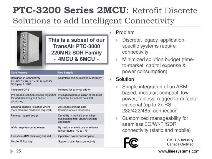PTC-3200 Series 2MCU