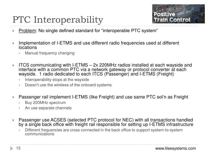 PTC Interoperability