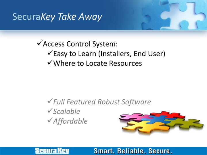 Secura key take away