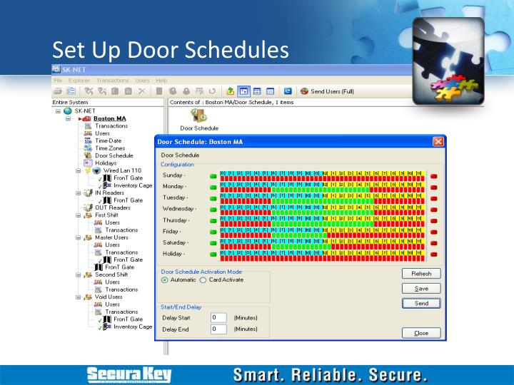 Set Up Door Schedules