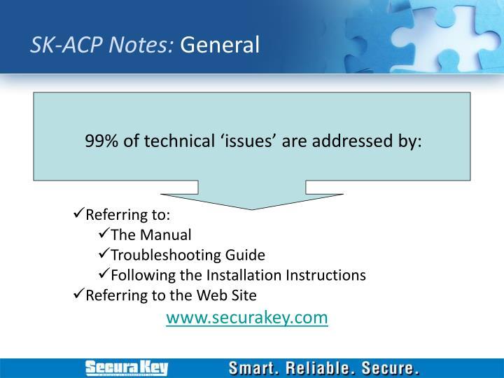 SK-ACP Notes: