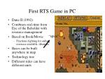 first rts game in pc