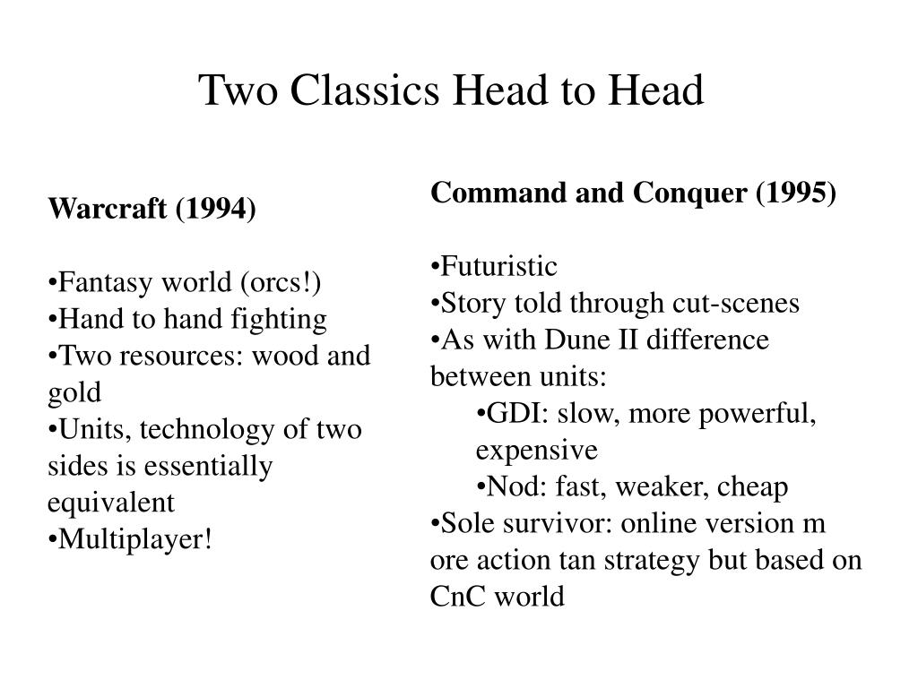 Two Classics Head to Head