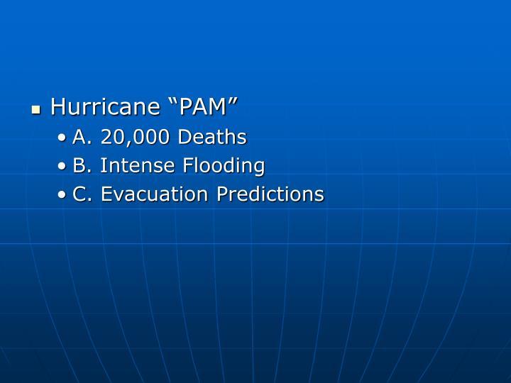 """Hurricane """"PAM"""""""