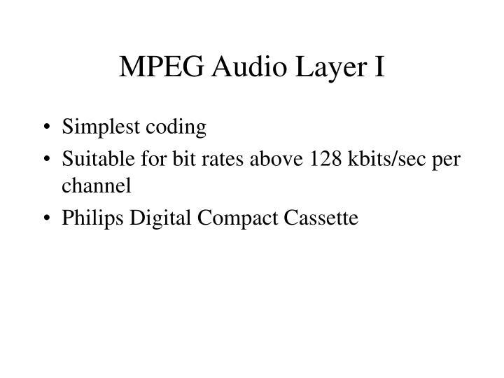 MPEG Audio Layer I
