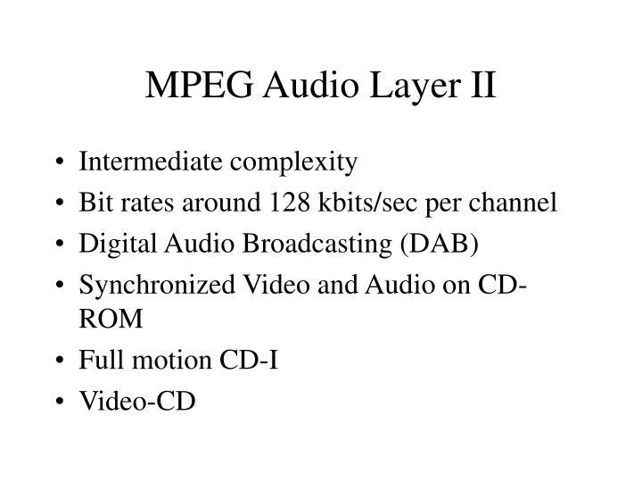 MPEG Audio Layer II