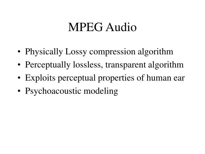 MPEG Audio