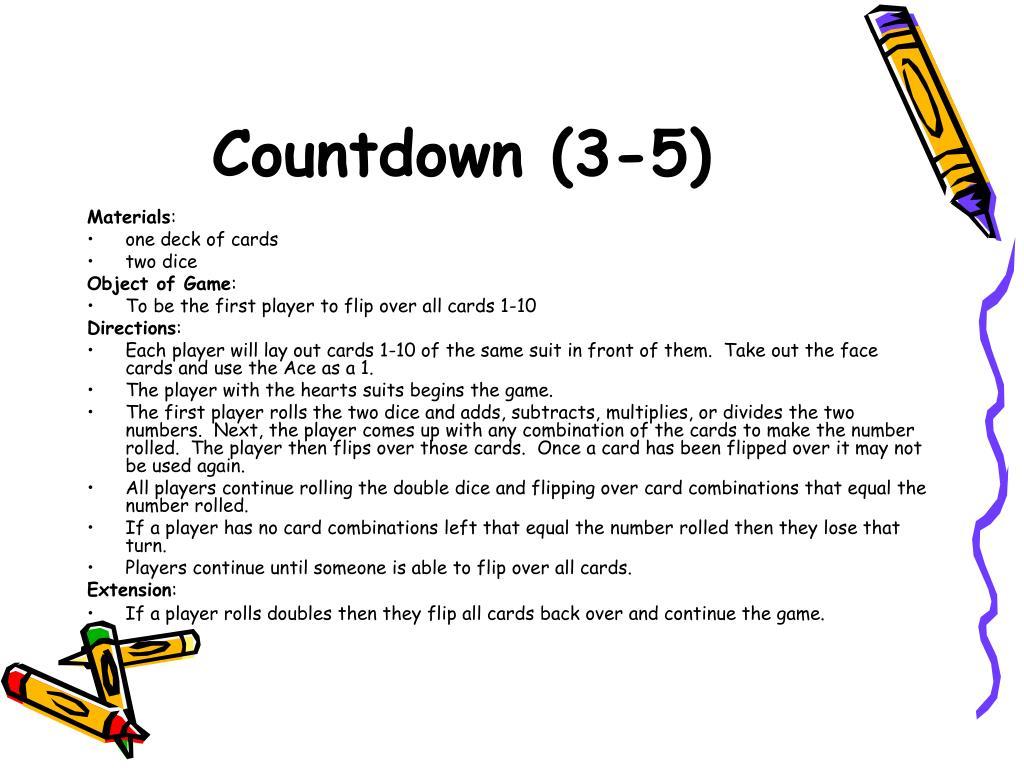 Countdown (3-5)