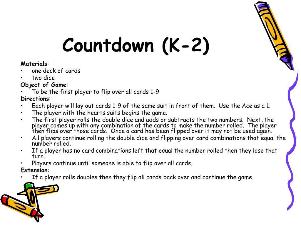 Countdown (K-2)