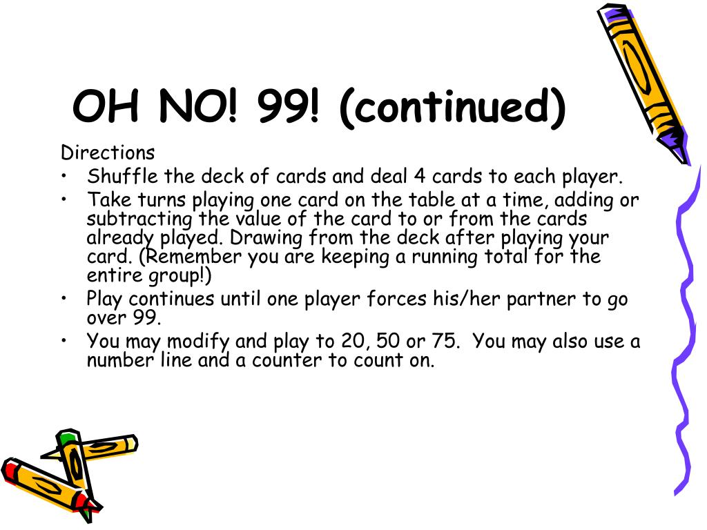 OH NO! 99! (continued)