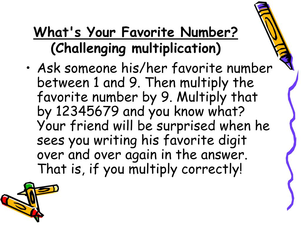 What's Your Favorite Number?