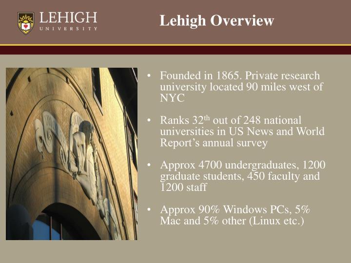 Lehigh Overview
