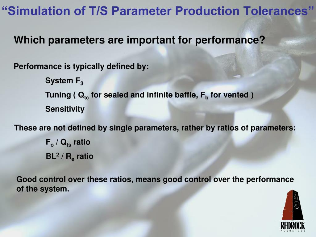 Which parameters are important for performance?