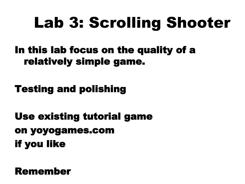 Lab 3: Scrolling Shooter