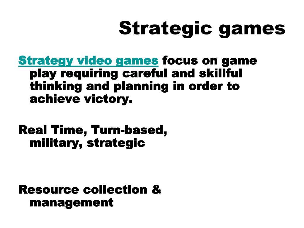Strategic games