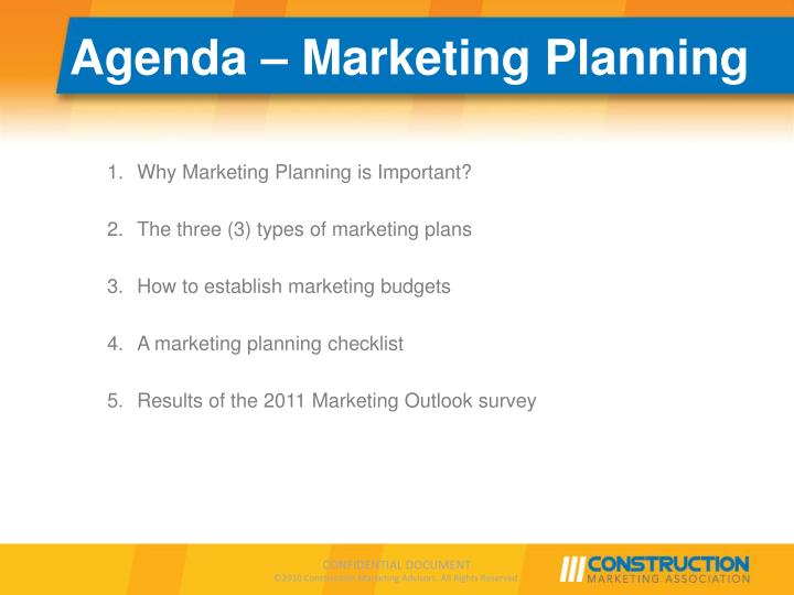 Agenda marketing planning