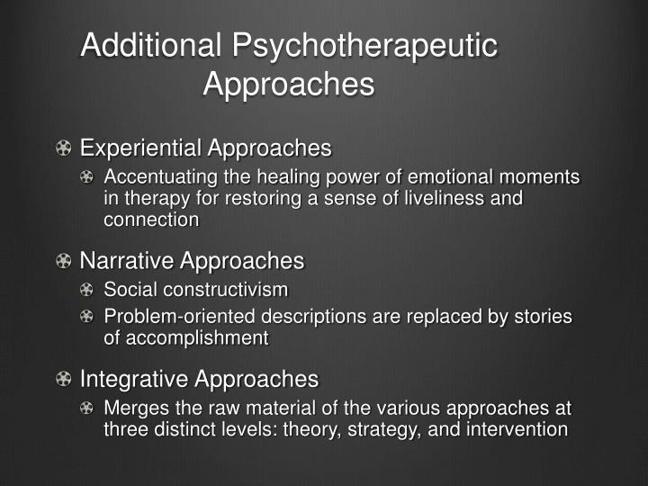 Additional Psychotherapeutic Approaches
