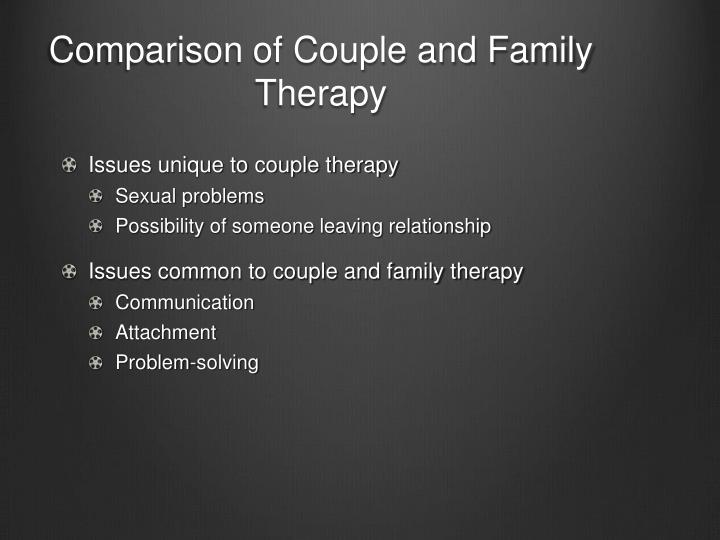 Comparison of Couple and Family Therapy