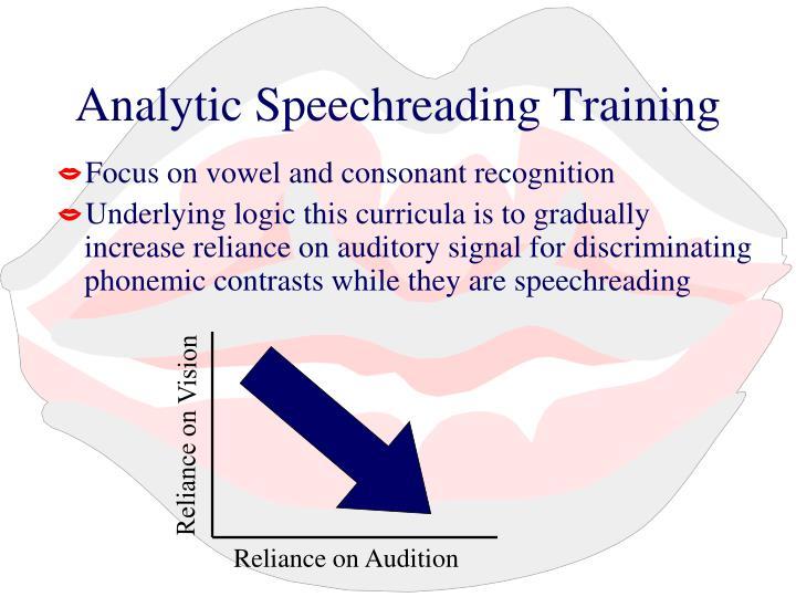 Analytic Speechreading Training