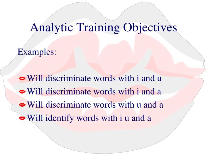 Analytic Training Objectives