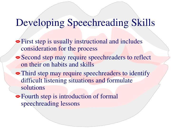 Developing Speechreading Skills