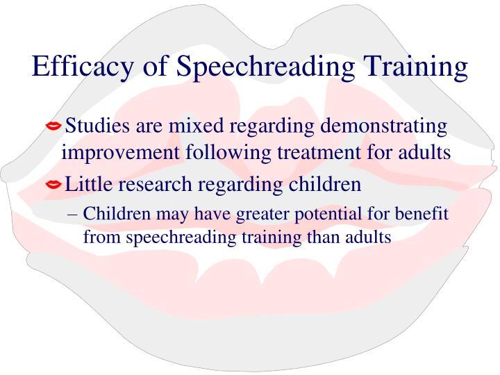 Efficacy of Speechreading Training