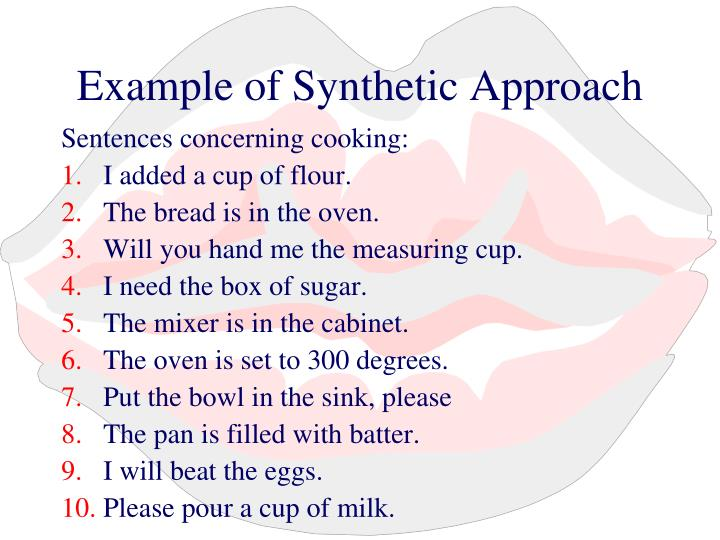 Example of Synthetic Approach
