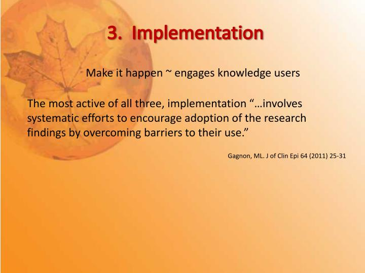 3.  Implementation