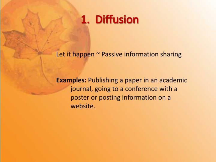 1.  Diffusion