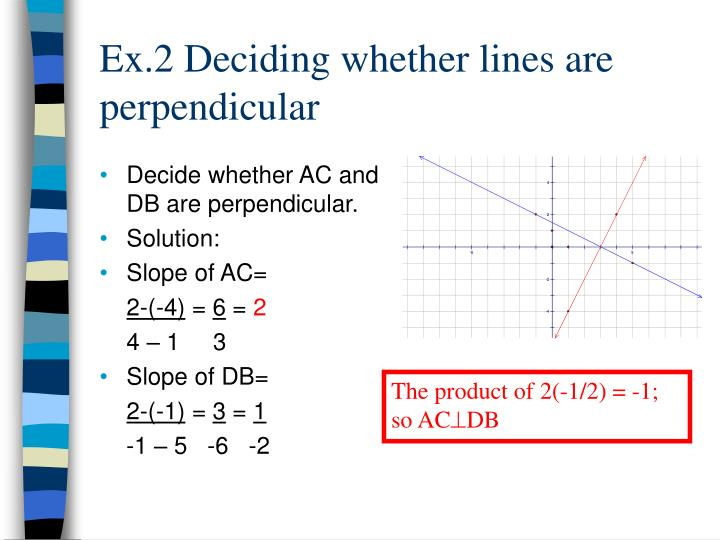 Decide whether AC and DB are perpendicular.