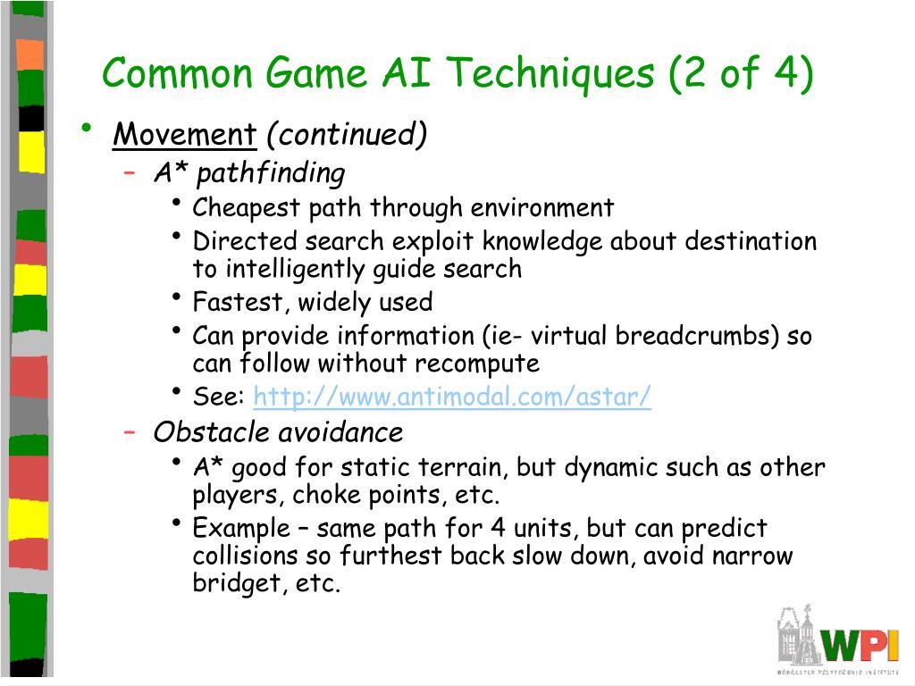 Common Game AI Techniques (2 of 4)