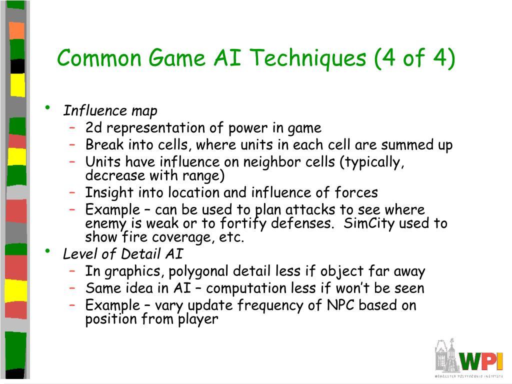 Common Game AI Techniques (4 of 4)
