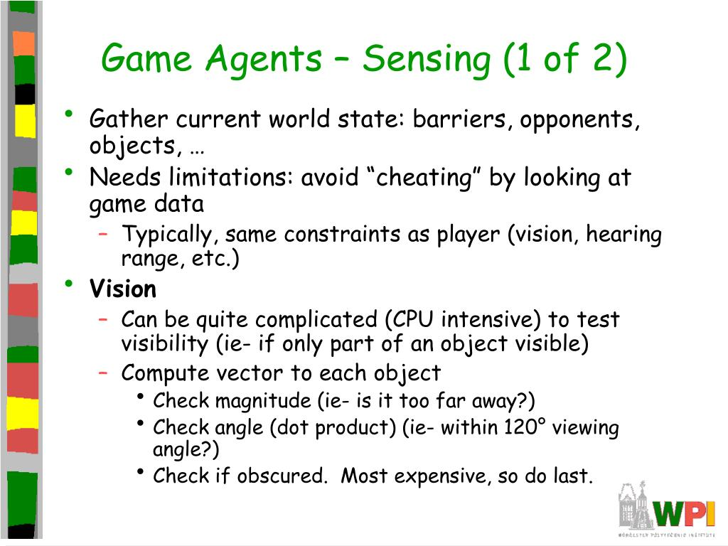 Game Agents – Sensing (1 of 2)