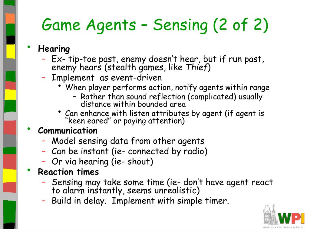 Game Agents – Sensing (2 of 2)