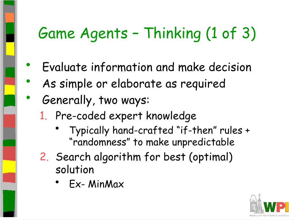Game Agents – Thinking (1 of 3)