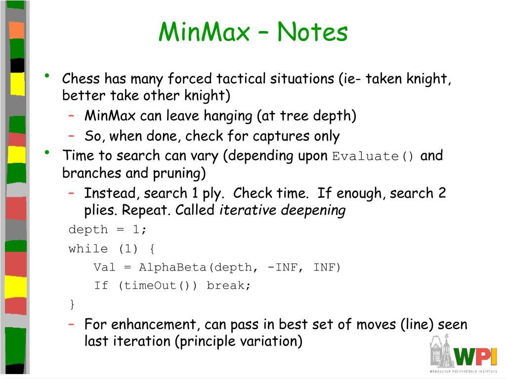 MinMax – Notes