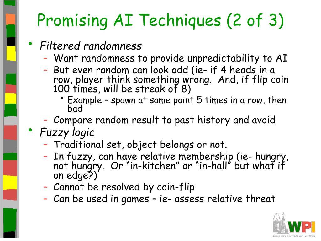 Promising AI Techniques (2 of 3)