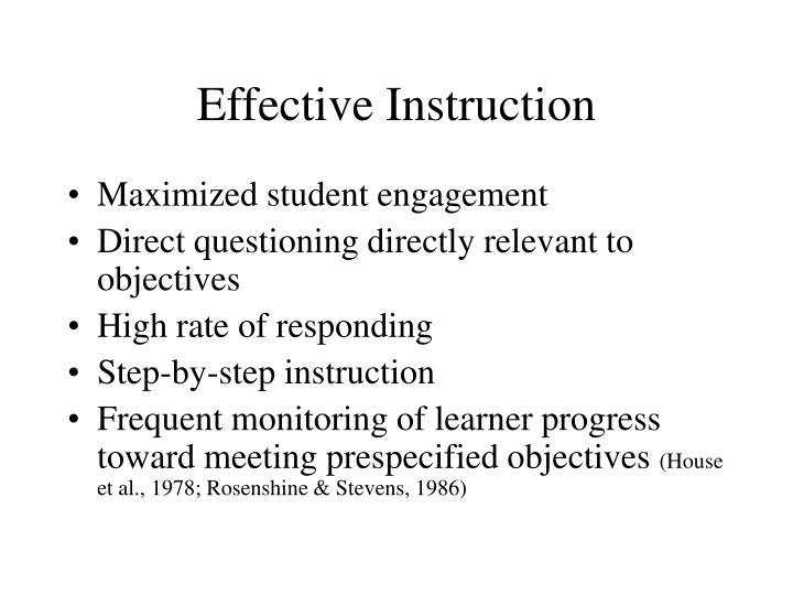 Effective Instruction