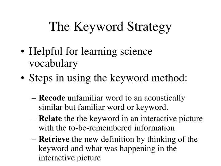The Keyword Strategy