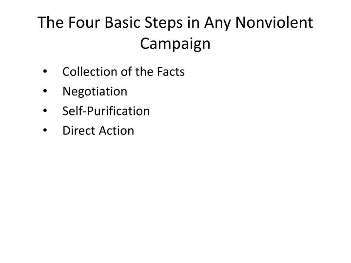 The Four Basic Steps in Any Nonviolent Campaign
